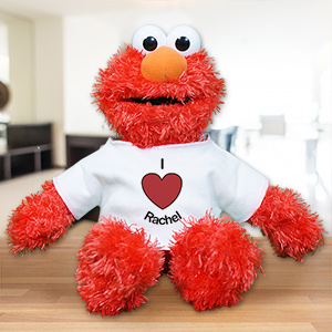 Personalized I Heart Elmo Doll | Valentine's Day Stuffed Animals
