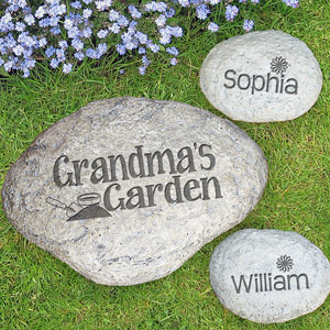 Engraved Garden Stone | Personalized Gifts For Grandma