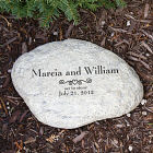Engraved Marriage Garden Stone