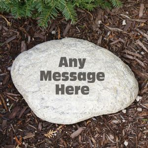 Engraved Any Message Garden Stone
