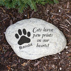 Engraved Cat Memorial Garden Stone L582214
