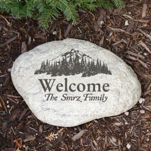 Engraved Woodland Garden Stone | Personalized Stones