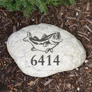 Engraved Fish Garden Stone