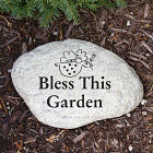 Engraved Angel Garden Stone L582614