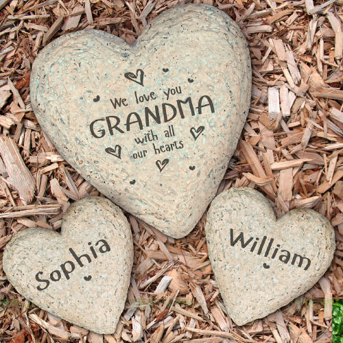 Family Heart Garden Stone | Housewarming Gifts