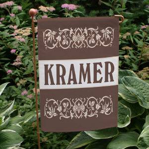 Our Family Welcome Personalized Garden Flag