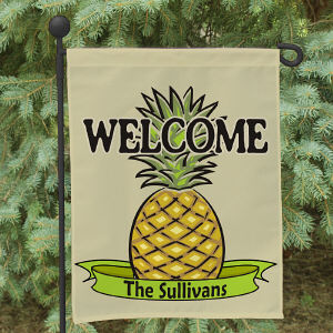 Personalized Pineapple Welcome Garden Flag 83020842