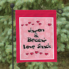 Personalized Love Shack Garden Flag