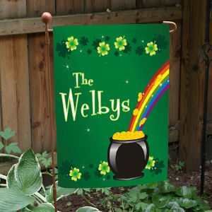 Irish Rainbow Garden Flag