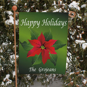 Poinsettia Holiday Garden Flag