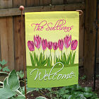 Personalized Spring Tulips Garden Flag
