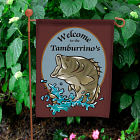Bass Fishing Personalized Welcome Garden Flag
