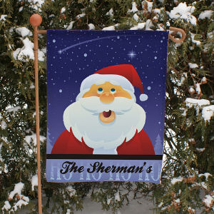 Santa Personalized Christmas Garden Flag