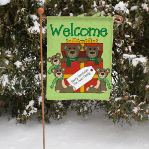 Personalized Teddy Bear Garden Flag