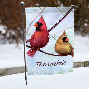 Personalized Cardinals Garden Flag