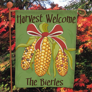 Personalized Fall Harvest Garden Flag 83037842