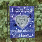 Personalized To The Moon and Back Garden Flag 83038782