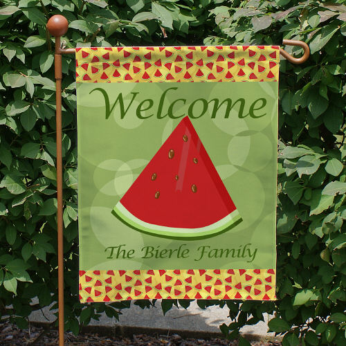 Personalized Watermelon Welcome Garden Flag 83039752