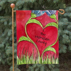 Personalized Romantic Tulips Garden Flag 83052852