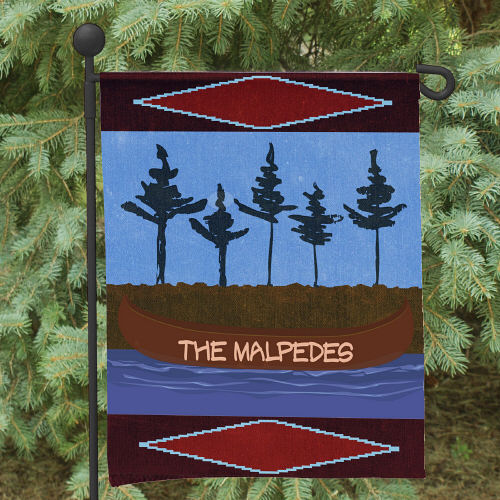 Personalized Canoe Welcome Garden Flag 83052972