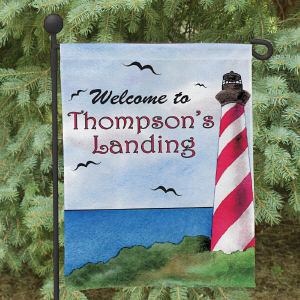 Personalized Lighthouse Garden Flag