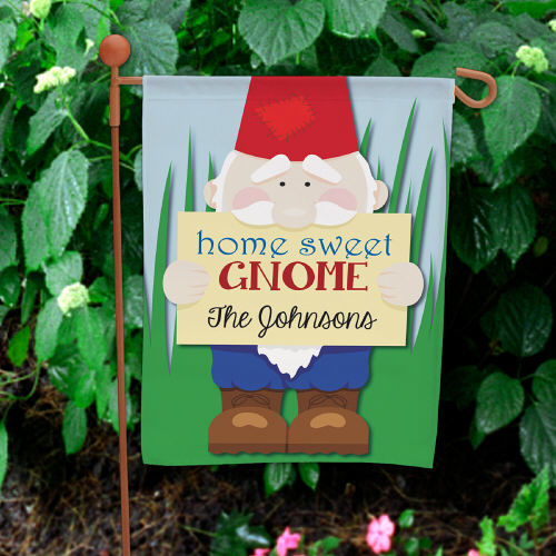 Personalized Home Sweet Gnome Garden Flag 83059762