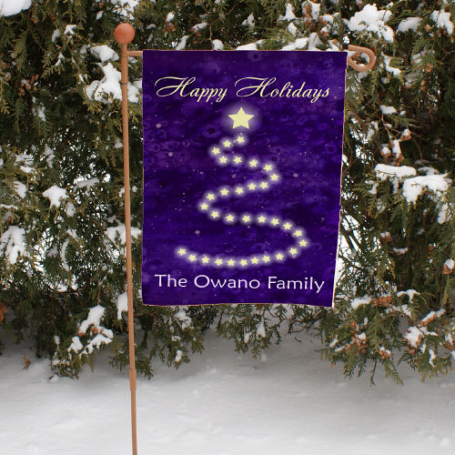 Personalized Happy Holidays Christmas Garden Flag 83060412