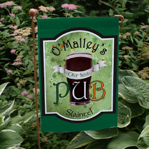 Personalized Old Irish Pub Garden Flag 83063062