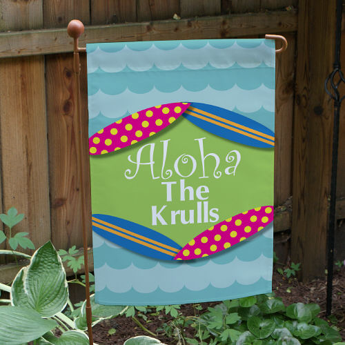 Personalized Summer Welcome Garden Flag 83067122