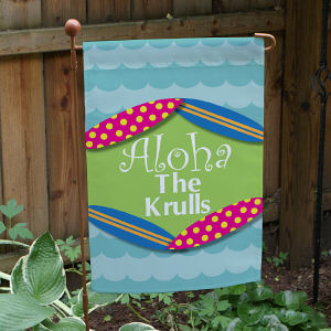 Personalized Summer Welcome Garden Flag