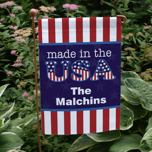Personalized Made In The USA Garden Flag 83067272