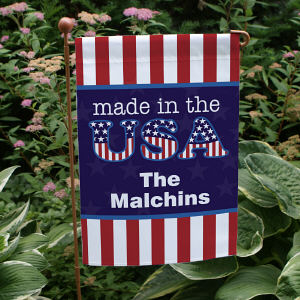 Personalized Made In The USA Garden Flag