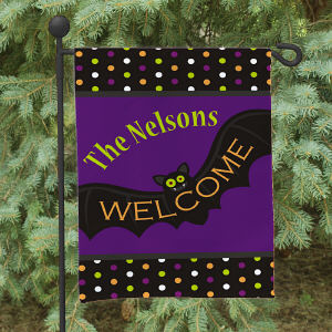 Halloween Welcome Garden Flag