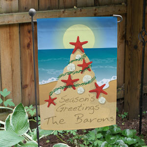 Personalized Tropical Christmas Garden Flag