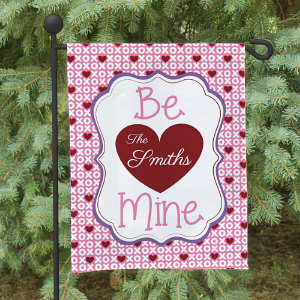 Personalized Be Mine Family Flag