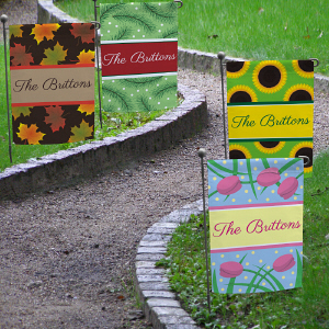 Personalized All Seasons Garden Flag Set | Personalized Garden Flags
