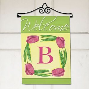 Personalized Spring Tulips Flag