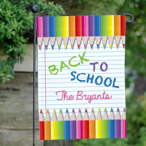 Personalized Back to School Garden Flag 83077972