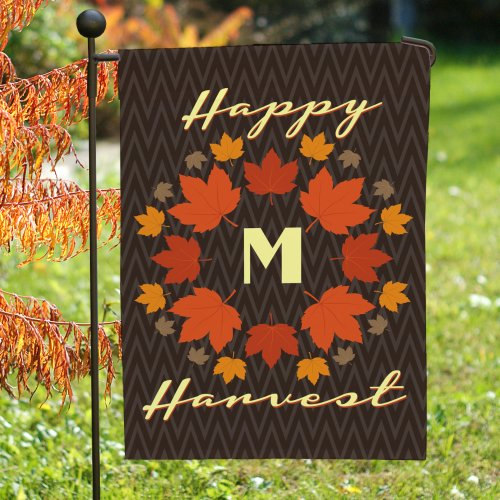 Personalized Happy Harvest Garden Flag 83080632