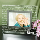 Engraved In Loving Memory Memorial Glass Frame G911851
