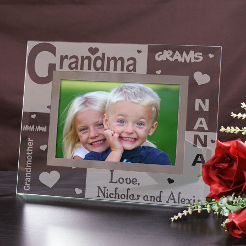 Engraved Grandma Glass Frame | Personalized Grandma Gifts