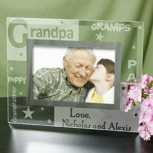 Engraved Grandpa Glass Frame