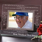 Engraved Memorial Glass Picture Frame