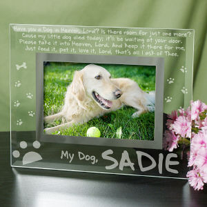 Engraved Dog Memorial Glass Picture Frame G912971