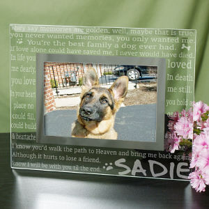 Engraved Til' the End Pet Memorial Glass Frame | Personalized Picture Frames