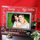 Engraved Anniversary Glass Picture Frame G918271