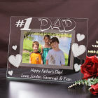 Engraved Number One Dad Glass Picture Frame G91961