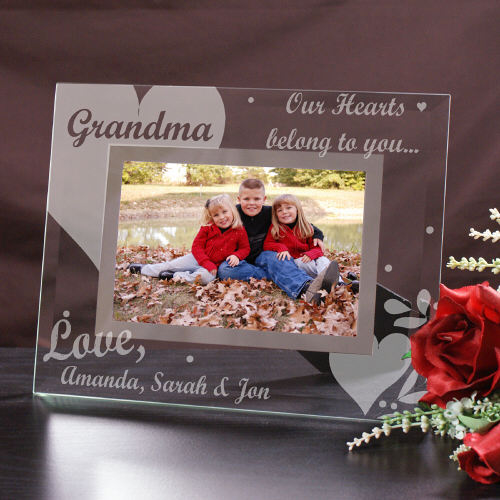 Engraved Our Hearts Belong To Glass Picture Frame G92051