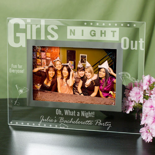 Engraved Girls Night Out Glass Picture Frame | Personalized Picture Frames
