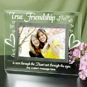 True Friends Personalized Glass Picture Frame